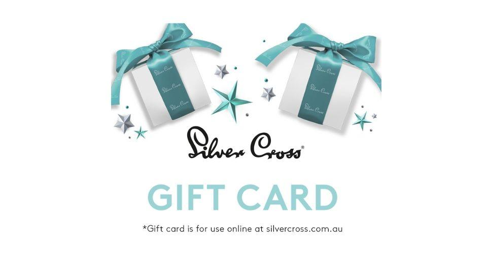 $50 gift card for your next purchase online at silvercross.com.au