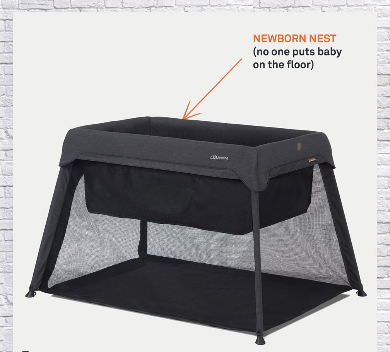 Micralite Sleep & Go Travel Cot with newborn insert and carry bag