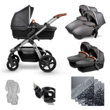 Wave Granite Twin Bundle - Pre Order your pram, stock due mid August