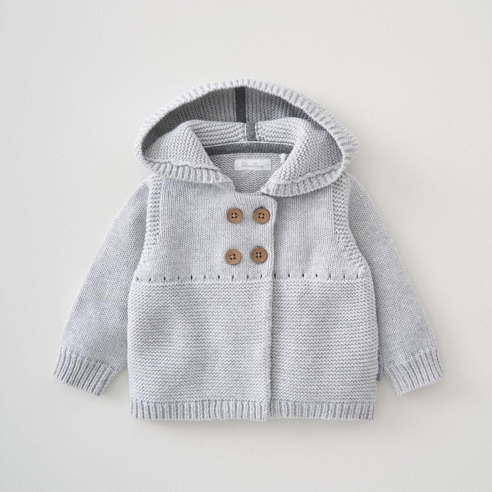 Hooded Knitted Jacket 0-3 Months