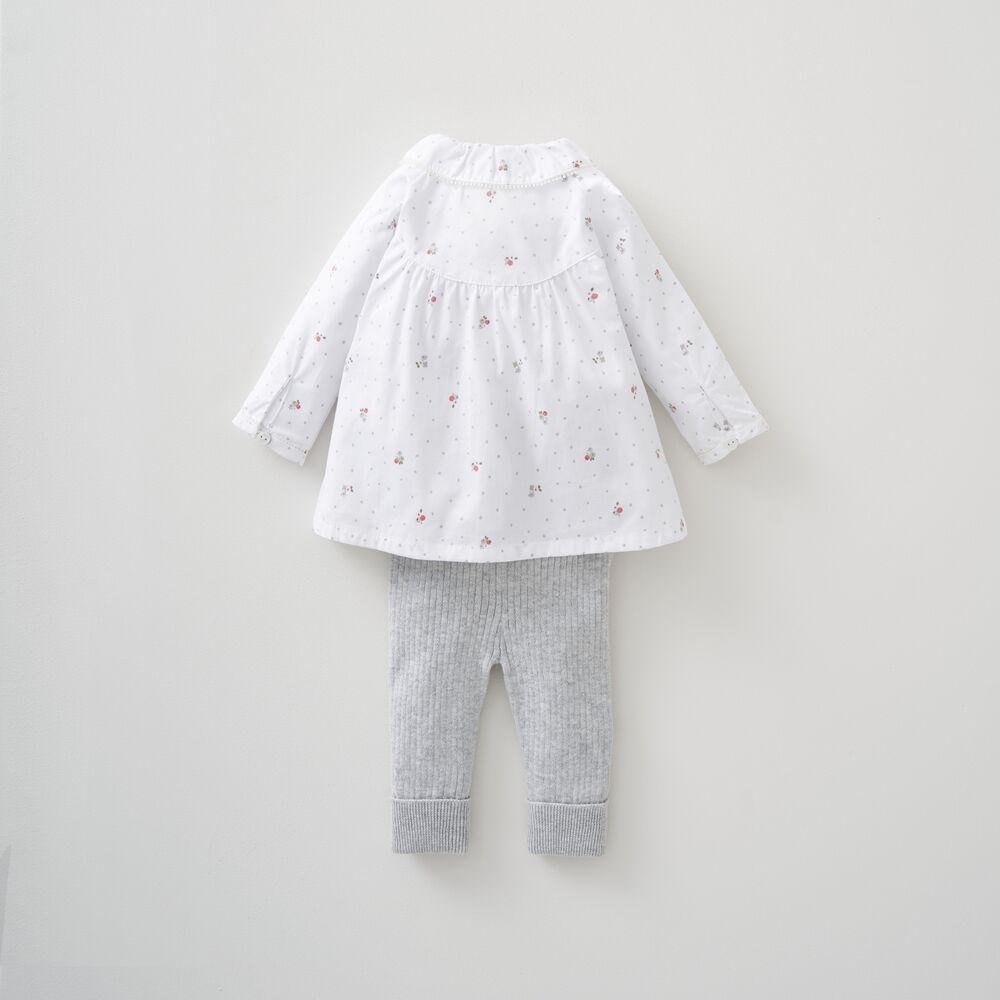 Blouse & Knitted Legging Set 3-6 Months