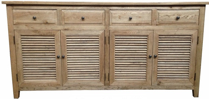 Louvre Buffet 4 door & 4 drawer in Elm Timber