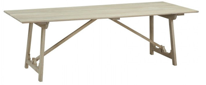 Marcus European style trestle dining table