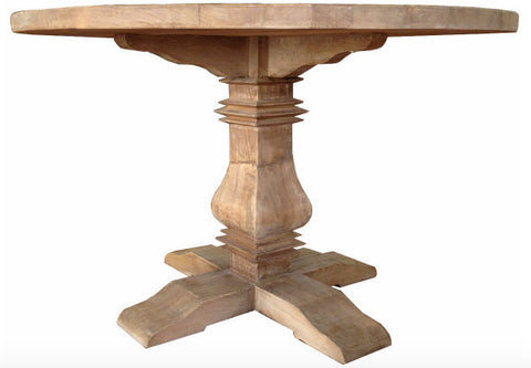 Mulhouse Round Pedestal Dining Table in Reclaimed Elm
