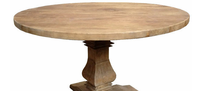 ... Mulhouse Round Pedestal Dining Table In Reclaimed Elm