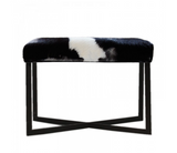 Hugo and Heri cow/goat hide ottoman/stool