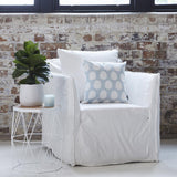 New Brighton 100% Linen slip covered Arm Chair