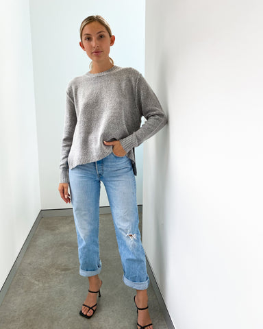 Sadie Knit Jumper - Grey Merle
