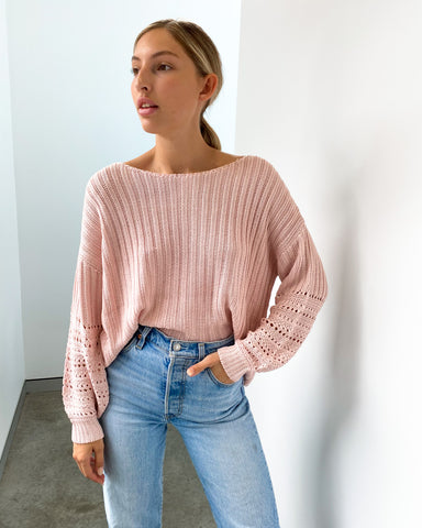 Cecile Knit Jumper - Blush