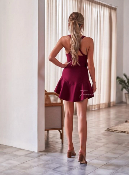 Two Sisters the Label Rachel Dress - Burgundy