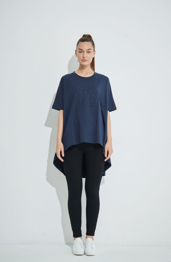 Tirelli Weekend Swing Top - Deep Navy