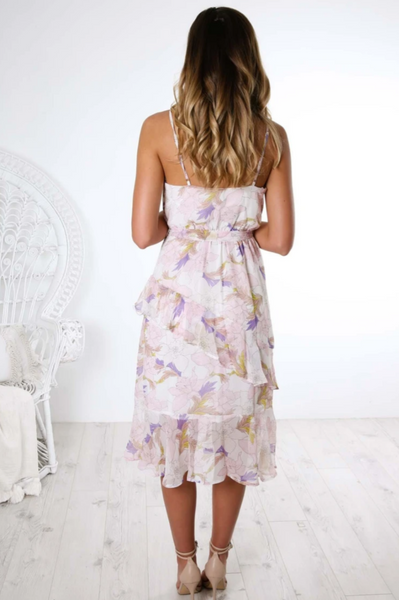 Be Beautiful Dress - White Floral