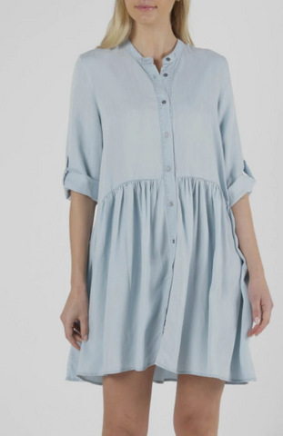 Frankie Dress - Chambray Blue