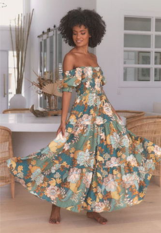 Jaase Enchanted Forest Claudette Maxi Dress - Floral
