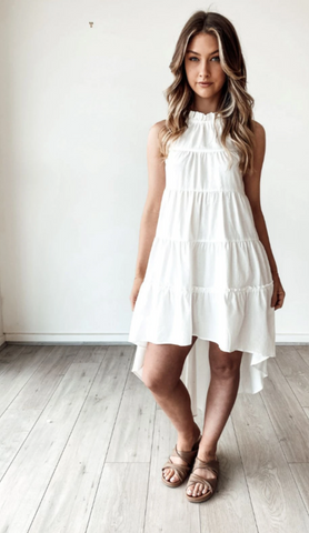 Bagira Fall Dress - White