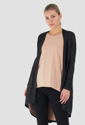 Betty Basics Harlow Cardigan - Charcoal
