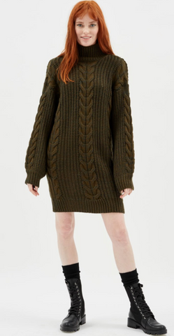 Bronwyn Jumper Dress - Khaki