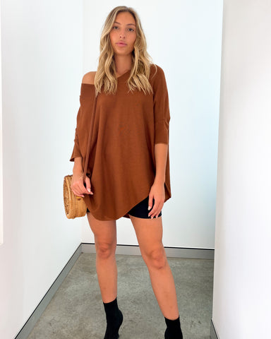 Ibiza Knit Top - Tan