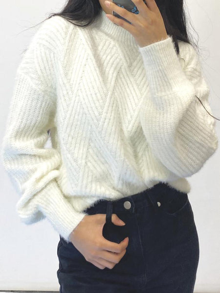 Pearl Knit Jumper - Cream