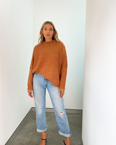 Leah Knit Top - Spice