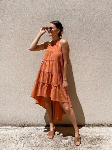 Bagira Fall Dress - Rust
