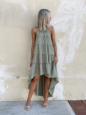 Bagira Fall Dress - Khaki