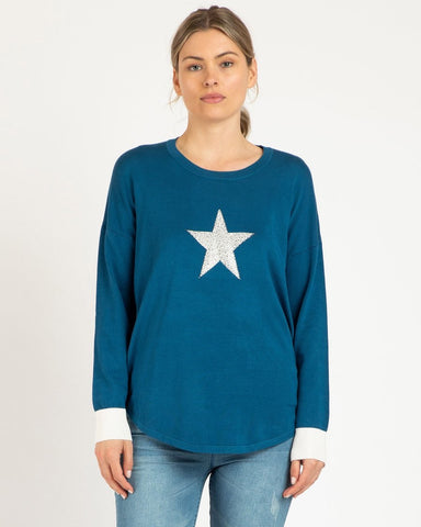 Betty Basics Sophie Knit Jumper - Blue