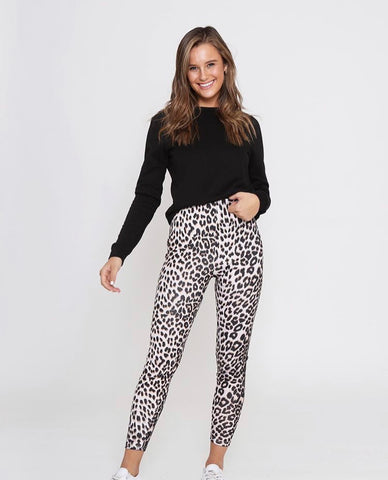 Hutton Jegging - Grey Leopard