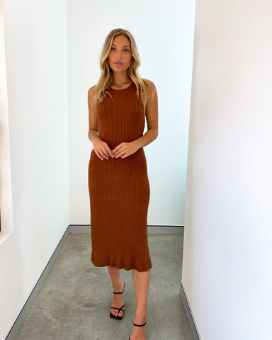 Addison Knit Dress - Chocolate