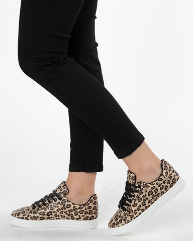 Betty Basics Tripper Sneaker - Leopard Print