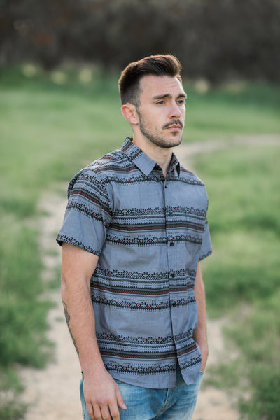 ETHAN AZTEC BUTTON UP