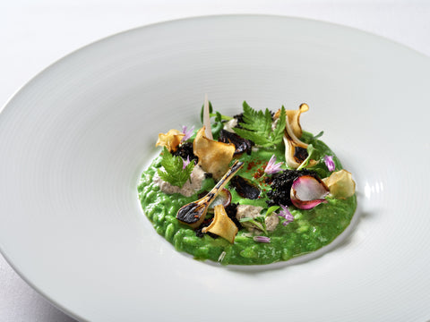 Ramp Top Risotto. Photo by Darren Bernaerd