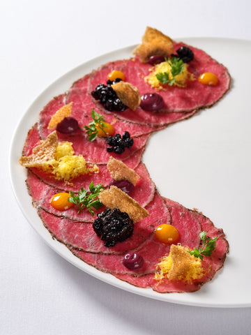 Wagyu Carpaccio. Photo by Photo by Darren Bernaerdt.