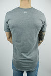 The Glacier Curved Hem T-shirt in Grey