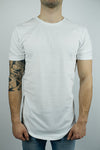 The Glacier Curved Hem T-shirt in White