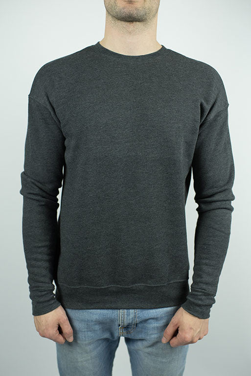 The Reservoir Drop Shoulder Fleece Sweater in Dark Grey