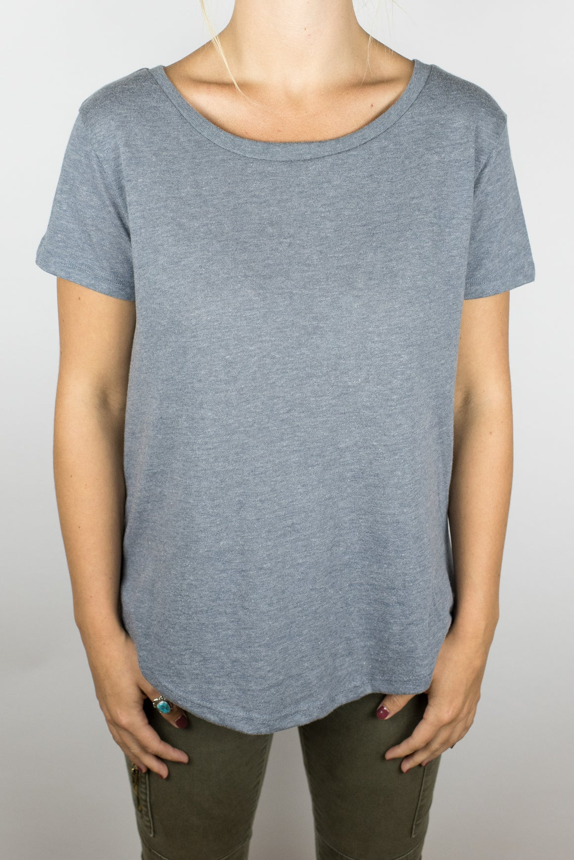 The Flare Tee in Cool Vintage Grey