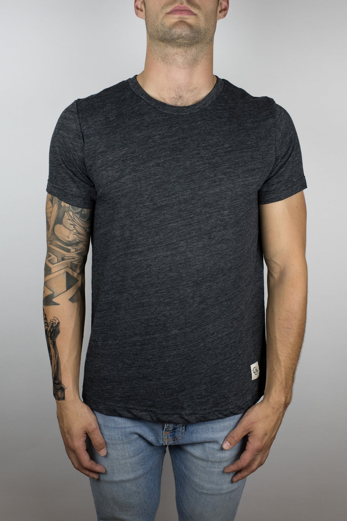 The Trigger Slub Tee in Charcoal