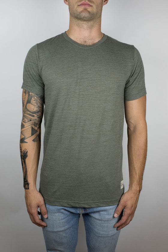 The Trigger Slub Tee in Olive