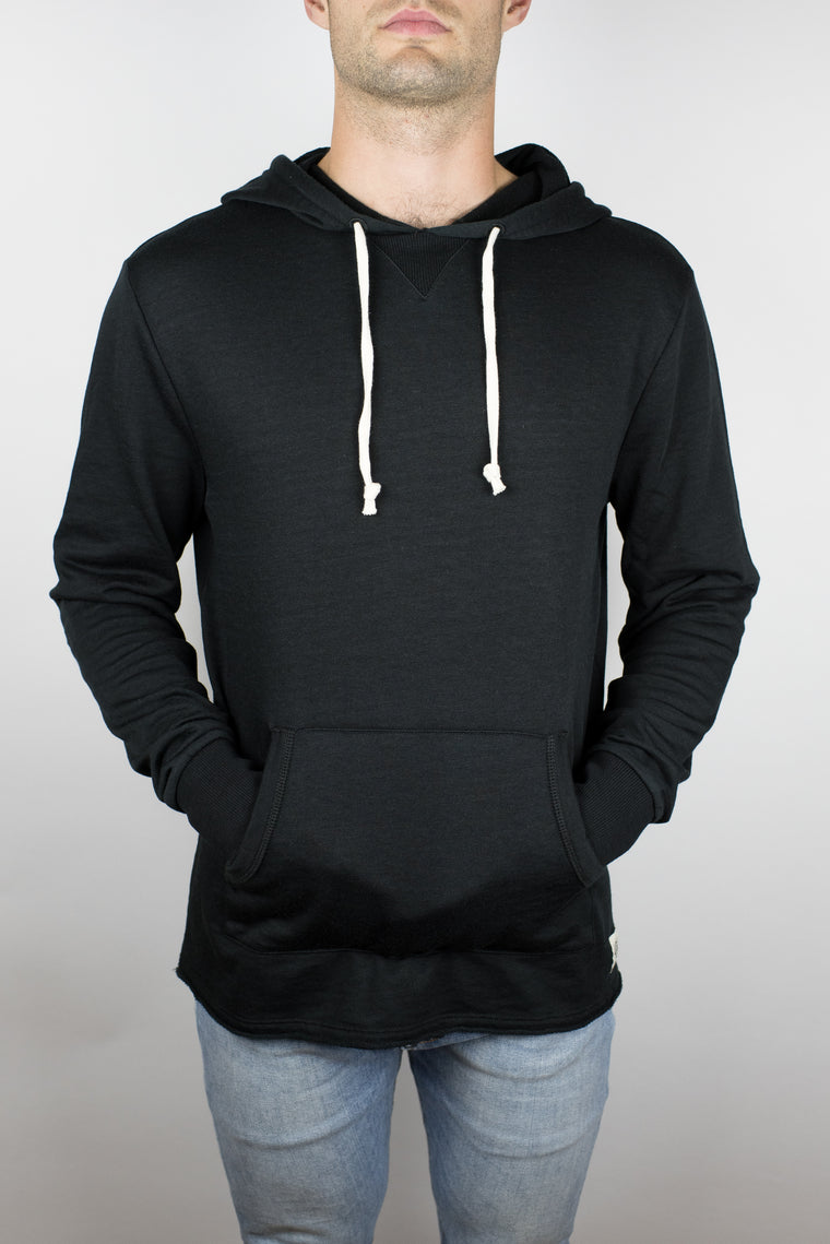 The Embers Terry Hoodie in Black