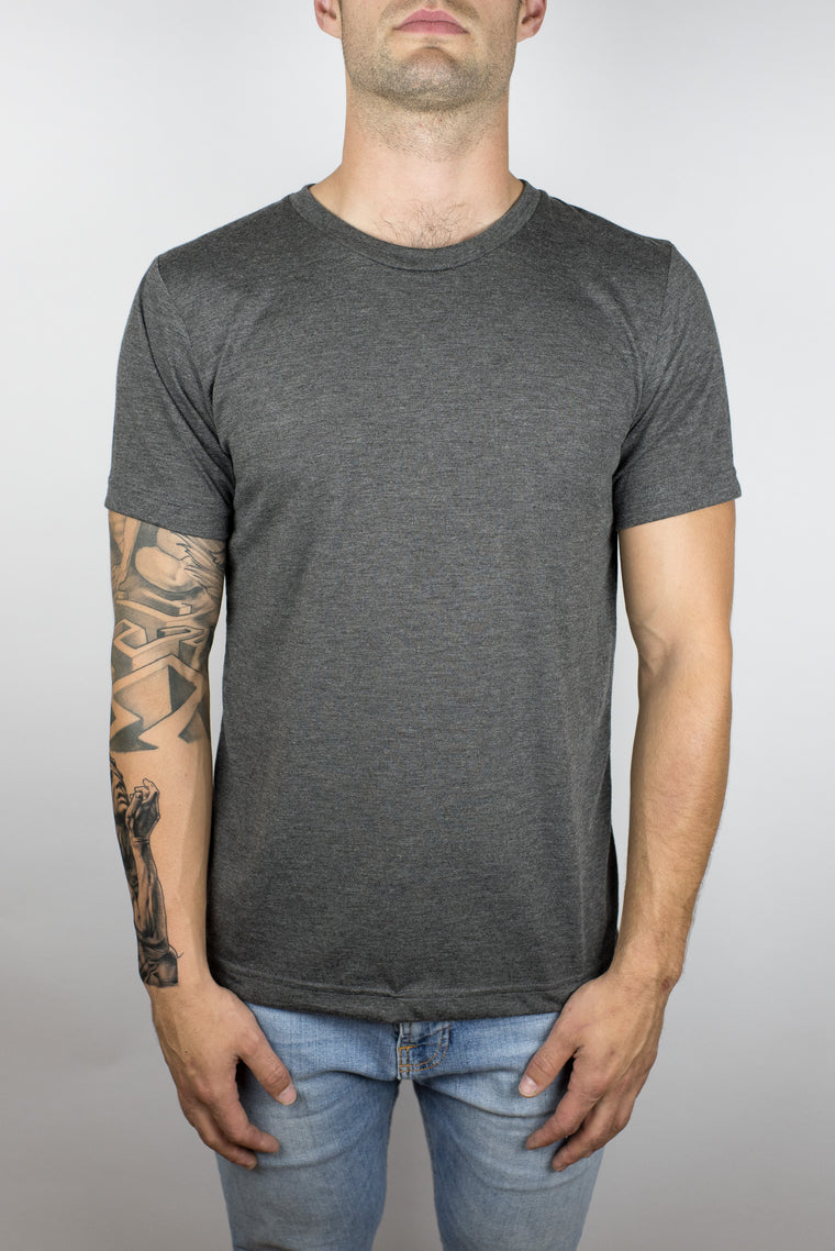 The Steady Burn Tee in Dark Grey