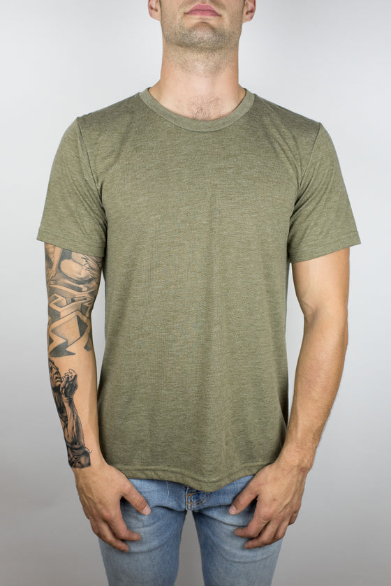 The Steady Burn Tee in Olive