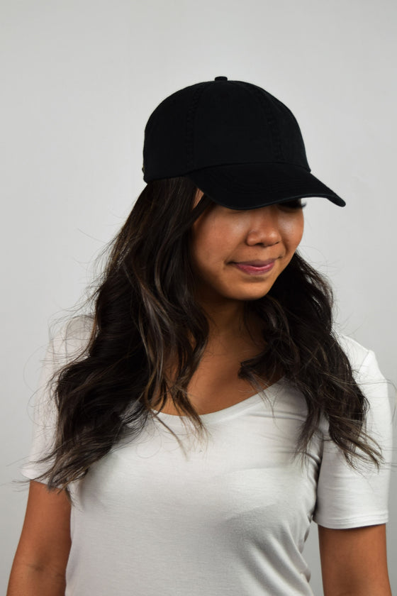 The COL Crew Cap in Vintage Black