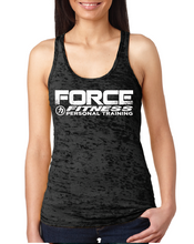 Load image into Gallery viewer, Force Fitness Ladies Burnout Racerback