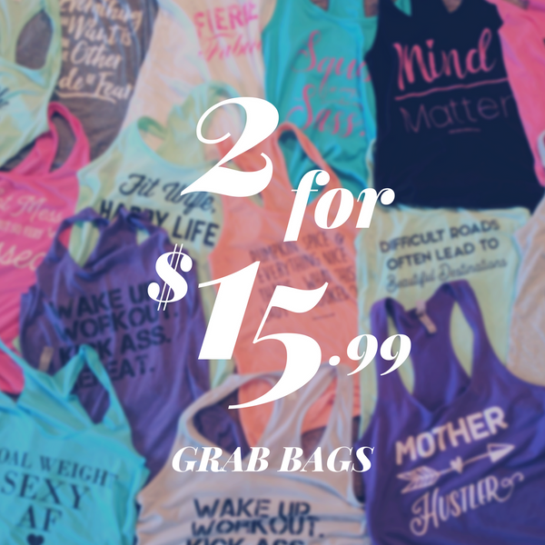 2 for $15.99 Grab Bags - Cotton Racerbacks