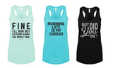 Women's Funny Running Racerback Tank Top