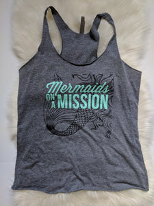 Mermaid on a Mission Triblend Racerback