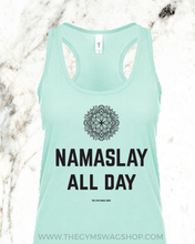 Load image into Gallery viewer, Namaslay All Day Cotton Racerback