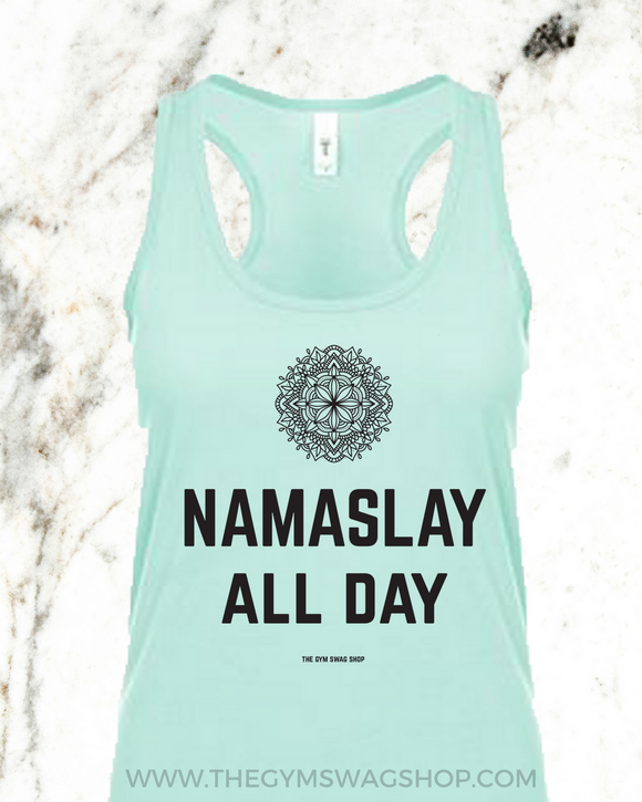Namaslay All Day Cotton Racerback