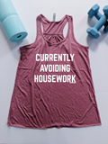 Currently Avoiding Housework Racerback